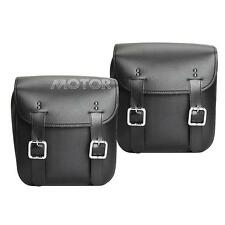 2x Motorcycle Storage Panniers Saddle Bags For Harley Sportster XL883 XL1200