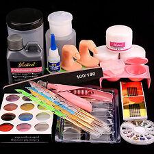 Liquid Powder Nail Art Tips Pump Clipper Dappen Dish Tools 3D Acrylic Mould Kit