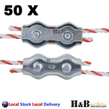 50 Electric Fence Poly Wire Joiner Polywire Rope Braid Connector Fencing Joiners