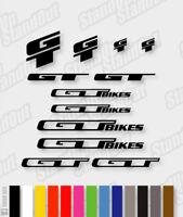 GT Die-cut Decal Sticker sheet (cycling, mtb, bmx, bike, frame) - V2