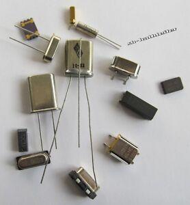10 Stück Quarze, Schwingquarze, wählen Sie die gewünschte Frequenz/Bauform aus