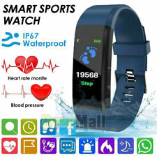 Women Men Smart Watch Fit**bit Fitness Wristband For iPhone Android Waterproof