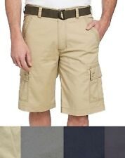 SALE! Wearfirst Men's Free-Band Belted Cargo Shorts SIZE & COLOR VARIETY D32