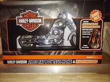 Harley-Davidson 2003 Fat Boy Telephone Collectible( (Diamond Ice) Brand New