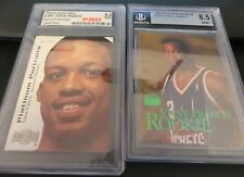 Steve Francis Rookie Houston Rockets Basketball cards Skybox graded Mint (2)