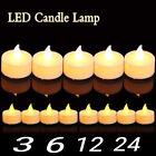 24PC Candles Tealight Led Tea Light Flameless Flickering Wedding Battery-Powered