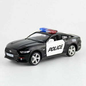 1:36 Ford Mustang GT 2015 Police Model Car Diecast Gift Toy Vehicle Kids Black