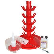 45 Bottle Drainer rinser brush & No rinse sanitiser (Star San) Bottling Kit