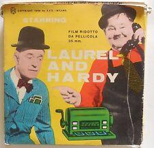 PELLICOLA SUPER 8 FILM LAUREL AND HARDY P.N.  STANLIO ED OLLIO BARCAIOLI