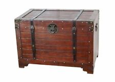 Trunk Storage Chest Tool Toy Wooden Treasure Vintage Box Wicker Large Crate