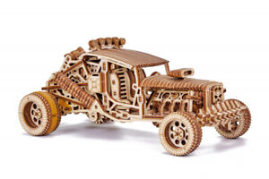 Mechanical Puzzle Wood Trick 3D Model MAD BUGGY Wooden self-assembly