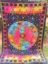 indio multicolor MANDALA Tapiz Colgante de Pared Manta Colcha Zodíaco Decoración