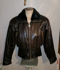ANDREW MARC BLACK SOFT LAMBSKIN LEATHER CROPPED MOTORCYCLE CAFE RACER JACKET XS
