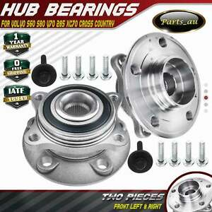 2x Front Wheel Bearing Hubs for Volvo S60 384 S80 184 V70 285 XC70 Cross Country
