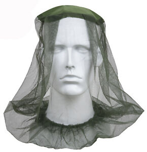 Mosquito Head Net Bug Insect Protection Olive Drab Mesh Net Rothco 8534