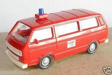 WIKING HO 1/87 VW VOLKSWAGEN TRANSPORTER T3 COMBI FIRE POMPIERS FEUERWEHR 112 a