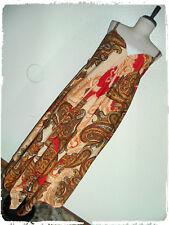 Mlle Gabrielle Bohemian Boho Rust Paisley Handkerchief Hem Dress 3X