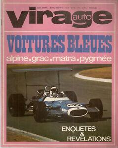 VIRAGE AUTO 1969 4 ALPINE A110 1600 504 CABRIOLET GP AFRIQUE DU SUD MATRA PYGMEE