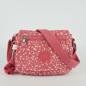 KIPLING SABIAN Mini Shoulder Crossbody Bag Dainty Daisies Pink