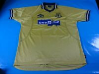 authentic vtg Everton Away 97 99 soccer football shirt jersey