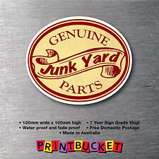 Genuine Junk Yard Parts sticker 7yr water & fade proof Car Truck Hot Rod Race