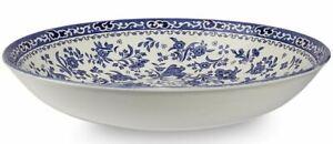 Burleigh ware blue Regal Peacock (Bluebird) pasta bowl 23cm