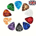 10x Celluloid Colourful Guitar Picks Plectrums For Acoustic Electric Guitar Bass