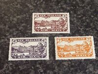 NEW ZEALAND AIR MAIL STAMPS SG548-550 1931-5 VERY FINE LIGHTLY MOUNTED MINT