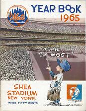1965 New York Mets Yearbook Shea Stadium UNISPHERE Logo