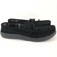 Route 66 Jordan 4 Slippers Men's Size 8 Black Suede Leather Rubber Sole Moccasin
