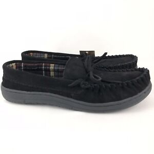 Route 66 Jordan 4 Slippers Men's Size 7 Black Suede Leather Rubber Sole Moccasin