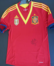 Spain -David Villa hand signed jersey  2013 Euro Champions -   photo proof & COA