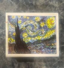 Starry Night Vincent Van Gogh Ms100C Rare Wooden Stamp By Museum Stamps
