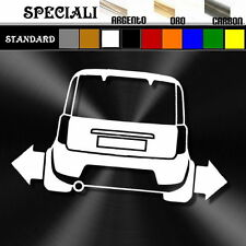 adesivo sticker fiat PANDA 100hp  tuning down-out dub prespaziato,auto decal