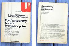 Contemporary Issues, premier cycle, droit économie politique, Francisque  Costa