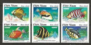 Vietnam 1995 Fauna Wildlife Marinelife Fisch Coral Reef Fish compl. set MNH