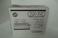 Citizen GSX-190 Dot Matrix Printer Parallel 9-Pin 1-Sheet 240x216 dpi 270CPS NEW