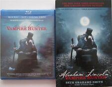 ABRAHAM LINCOLN, Vampire Hunter: Movie+ Novel Combo NEW BOOK & BLU-RAY