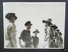 WW2 OFFICIAL BRITISH PRESS PHOTOGRAPH - Mandalay, Mountbatten With RAF in Burma