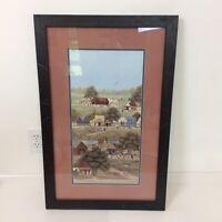 Beth B Cummings Framed Limited Edition Print Folk Art American Primitive Country