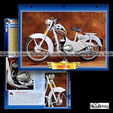 #142.08 Fiche Moto PEUGEOT 98 L 1955-1959 Classic Motorcycle Card