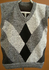 NEW, 100% ALPACA WOOL MEN´S VEST, M SIZE, SOFT, GRAY COLOR, ANDEAN, WARM c