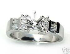 1/3CT DIAMOND ENGAGEMENT RING SEMI MOUNT 14K W  GOLD
