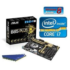 INTEL I7 4770K QUAD CORE CPU ASUS B85 MOTHERBOARD 16GB DDR3 MEMORY RAM COMBO KIT