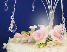 AB Iridescent Baroque Crystal Wedding Cake Top Jewelry – 6 Crystal Baroque Drops