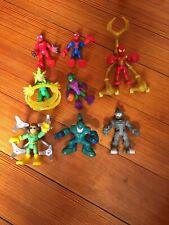 8 SpiderMan Playskool Heroes Marvel Lot: Green Goblin, Rhino, Doc Oct, Scorpion+