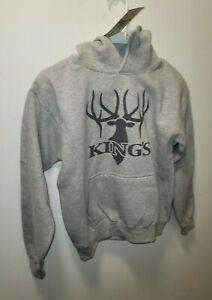 NEW with tags!! Kings Grey Stag Hoodie Sweatshirt Pullover Kids XL
