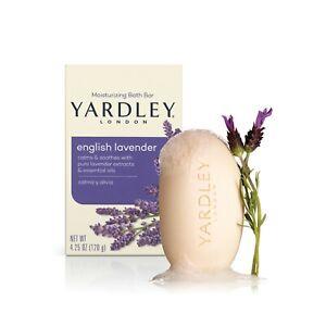 Yardley London Moisturizing Bath Bar, English Lavender, 4.25 oz (4 Bar Pack)