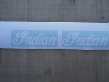 Indian Motorcycle Logo stickers in White 4.5 Inch wide NEW 2 ea