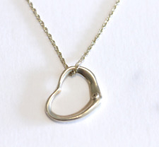 "DIAMOND HEART 14K YELLOW GOLD PENDANT NECKLACE 16"" ROPE CHAIN"